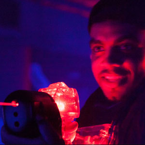 Laser tag player at Laser Flash