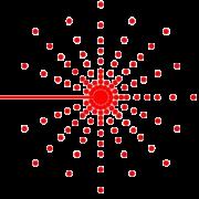 Laser Flash red laser burst